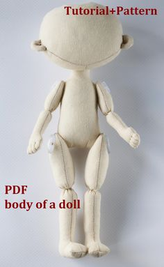 PDF Pattern Cloth Doll Pattern doll Make a Doll Textile doll Sewing Pattern PDF Sew a doll Pattern of the doll body Handmade Dolls Patterns, Doll Patterns Free, Doll Sewing Patterns, Doll Clothes Patterns, Pattern Sewing, Fabric Doll Pattern, Sewing Doll Clothes, Sewing Dolls, Diy Rag Dolls