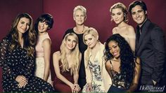 The KILLER cast of Scream Queens for Hollywood Reporter