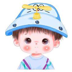 Cute Cartoon Boy, Cartoon Girl Images, Cute Cartoon Pictures, Cute Love Cartoons, Cartoon Girl Drawing, Cartoon Pics, Baby Animal Drawings, Cute Drawings, Cute Girl Illustration