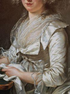 Adélaïde Labille-Guiard, Madame Roland (detail)  circa 1787