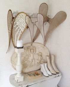 how to make large decorative angel wings wire and fabric - Google Search