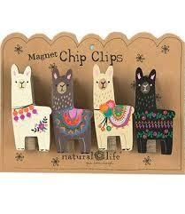 Set of 4. Includes a strong magnet and features rhinestones.Sentiment: Lucky Little LlamaComposition: woodDimensions: Each clip: 3in L x 1.5in W x .625in H, Backer card: 7in L x 5.25in W