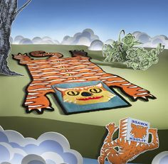 GLÖDANDE tiger rug has dense pile, so it's soft on your feet and adds character to any room. #IKEAcollections #GLÖDANDE #limitededition #WalterVanBeirendonck #rugs