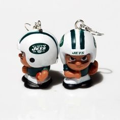 New York Jets Football Earrings by BabyRoomPrints on Etsy, $15.00