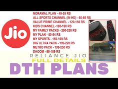 JIO DTH || PLAN LAUNCHED || FULL DETAIL || 6 MONTHS FREE OR NOT? ||