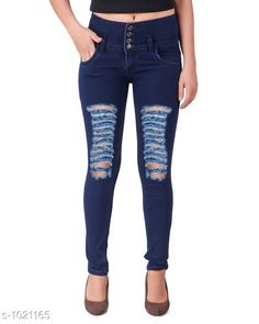 Jeans Trendy Denim Women's Jean  *Fabric* Denim  *Waist Size* 28 in, 30 in, 32 in, 34 in  *Length* Up To 40 in  *Type* Stitched  *Description* It Has 1 Piece Of Women's Jean  *Pattern* Solid  *Sizes Available* 28, 30, 32, 34, 36 *    Catalog Name: Aria Stylish Denim Women's Jeans Vol 1 CatalogID_123213 C79-SC1032 Code: 824-1021165-