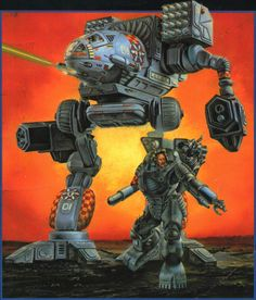 Vulture/Mad Dog artwork by Steve Venters in Battletech Compendium in 1990 Pen And Paper Games, Big Robots, Robotech Macross, Dog Artwork, Futuristic Art, Mecha Anime, Marvel, War Machine, Classic Toys