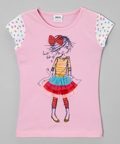 Another great find on #zulily! Pink Girl Bow Tee - Infant, Toddler & Girls #zulilyfinds