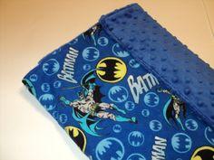 BATMAN+Baby+Blanket++Security+Blanket++19+X+23+by+AuntBsBonnets,+$22.00