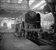swindon loco works - 92202 nearing completion