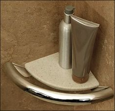 Corner Shelf Grab Bar for Bathrooms and Showers with Integrated Support Rail