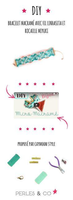 Regardez cette vidéo pour apprendre à réaliser un bracelet en micro-macramé avec du fil brésilien linhasita et des perles de rocailles Miyuki taille 8/0. La technique du macramé permet de créer des bijoux fantaisie délicats à partir de plusieurs types de noeuds. Nous verrons dans cette vidéo comment faire un noeud plat et insérer des perles à son tissage macramé. Par la même, vous apprendrez la technique du micro macramé !