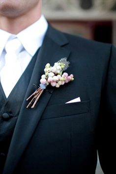 Unique Boutonniere | 35 Unique Boutonnieres Ideas For Perfect And Special Groom's Look