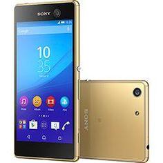 """Smartphone Sony Xperia M5 Dual Desbloqueado Android 5.0.2 Tela 5"""" 16GB 4G 21MP - Dourado"""