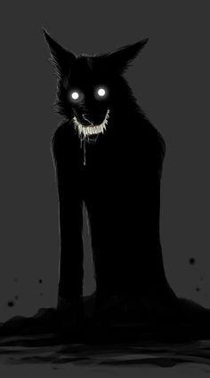 scary creepy horror morbid nightmare wolves monster evil darkness Demon gothic Macabre spooky eerie Ghastly werewolf haunting grim disturbing grotesque cursed sinister dark art ghoul ghoulish gruesome fiendish the-creepatorium Fantasy Kunst, Dark Fantasy Art, Dark Art, Creepy Horror, Creepy Art, Scary Scary, Monster Art, Shadow Monster, Arte Horror