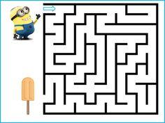 Minions, Kindergarten Worksheets, Preschool Activities, Letter Maze, Zumba Kids, Maze Worksheet, Mazes For Kids, Maze Puzzles, Jr Art