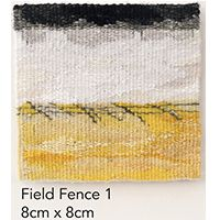 Jilly Edwards - Field Fences 1 Subtle colours in weaving give depth to this landscape