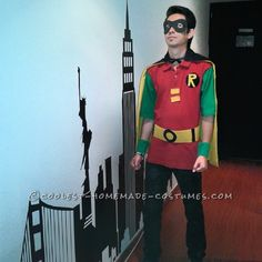 Easy Last-Minute Robin Costume… Coolest Halloween Costume Contest