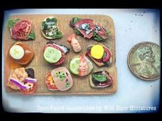 how to: mini open-faced sandwiches