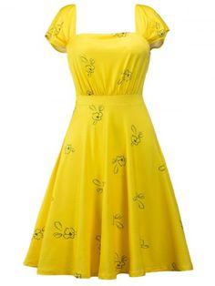 GET $50 NOW | Join RoseGal: Get YOUR $50 NOW!http://m.rosegal.com/vintage-dresses/printed-square-neck-high-waist-1068371.html?seid=erfq4ksd48ujp9v5g54jbn6m03rg1068371
