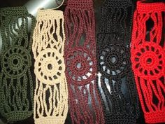 Pulseras de crochet.   Aprender manualidades es facilisimo.com