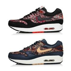 Nike x Liberty London Nike Air Max 1 Boruton Paisley Sneakerboot Collection 350 - I wish I had £120 right now!