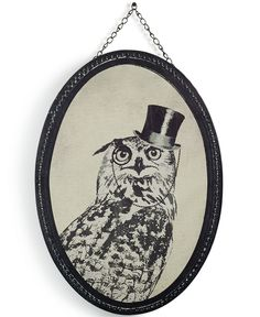 Graham and Brown Oswald Owl wall print — modern art with a vintage feel? You get bonus points for that one!