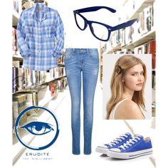 I LOVE THIS. Most of the Erudite outfits have skirts and heels. This one... I would totally wear!! Erudite: The Intelligent, created by meaganbrooks on Polyvore