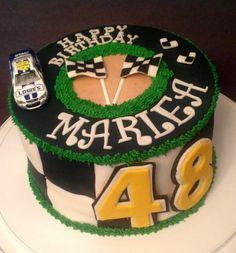 Jimmie Johnson Cake For A Nascar Fan All Fondant Except For The Race Car Jimmie Johnson cake for a NASCAR fan.. All fondant except for the...