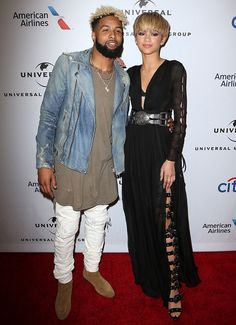 Odell Beckham Jr. and Zendaya at Universal Music Group's 2016 Grammy After Party in Los Angeles on February 15, 2016