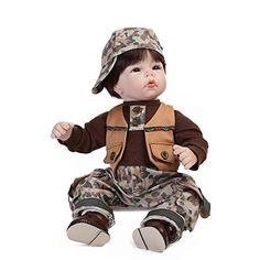 NPK 22 Inch Collectible Reborn Baby Dolls Boy Silicone Vinyl Lifelike Doll Babies Kids Birthday Gift Free Magnet Pacifier Dummy -- More info could be found at the image url.