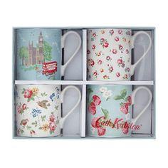 Set of 4 Classic Tea Mugs
