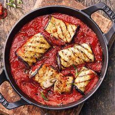Roulades d'aubergine à la sauce tomate piquante #Recettes #WeightWatchers #zéroPoints