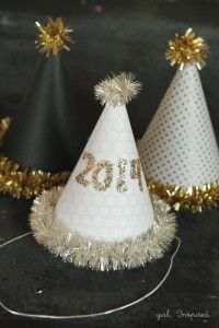 New Year's, easy, diy, hat, party