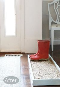 how to make a cobblestone boot shoe tray, crafts, home decor, home maintenance repairs, how to