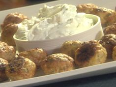 ... Turkey Meatballs with a Minted Yogurt Dipping Sauce recipe from Emeril