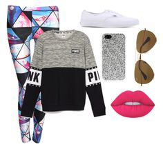 """Untitled #254"" by awesthoff0513 on Polyvore featuring Pilot, Vans, Yves Saint Laurent, Lime Crime and Ray-Ban"