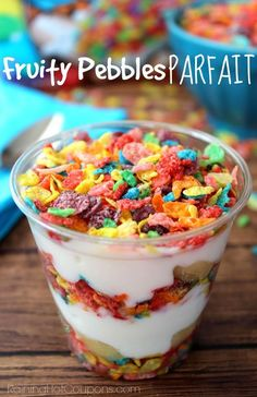 These fruity pebble parfaits are perfect for a no-bake cooking activity for your life skills or special education classroom.  Practice following directions in a fun and yummy way.  Get the directions at:  http://www.raininghotcoupons.com/fruity-pebbles-parfait/