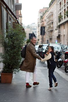 This gent's got style! On the Street…Alessandro & Allegra, Milan