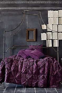purple rosette comforter, Look at all that texture and depth of color!