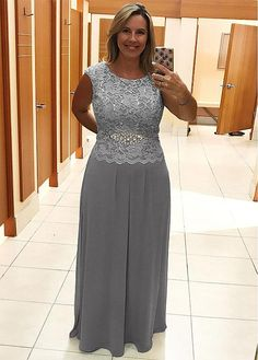 117 99 alluring lace chiffon jewel neckline full length sheath column mother of the bride dresses with beadings Mob Dresses, Fashion Dresses, Bridesmaid Dresses, Formal Dresses, Dresses Online, Mother Of The Bride Dresses Long, Mothers Dresses, Mother Bride, A Line Evening Dress