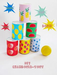 Create a colorful DIY game for the kids.