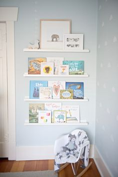 Up In The Sky Nursery – Project Nursery Nursery Book Corner Baby Room Themes, Girl Nursery Themes, Baby Boy Nurseries, Baby Cribs, Modern Nurseries, Neutral Nurseries, Book Themed Nursery, Babies Nursery, Girl Themes