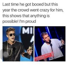 IM SO PROUD OF HIM. IT TOOK HIM A WHILE TO GET BACK TO WHERE HE IS AND I COULDN'T BE HAPPIER. I LOVE YOU, JUSTIN.