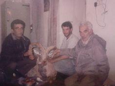 شکارقوچ.قلعهءده نمک گرمسار.راست پدرم چپ برادرم.زمستان85