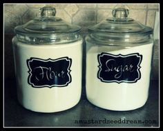 Kitchen Canister Labels - Kitchen Accessory -  Vinyl Wall Art - Lettering