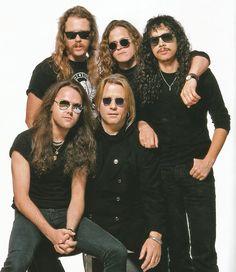 Metallica and Bob Rock Metallica Black Album, Metallica Art, Heavy Metal Rock, Heavy Metal Bands, Bob Rock, Legend Music, Jason Newsted, Robert Trujillo, Kirk Hammett