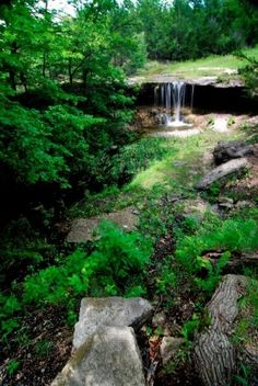 Alcove Spring, near Blue Rapids, Kansas has historical significance as a stop for Indians, fur traders, and emigrants on the Oregon Trail, with wagon ruts, an intermittent waterfall, and a long-flowing spring as the main features.