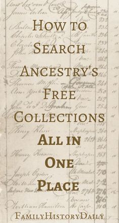 Genealogy Tips: Find hidden genealogy record collections on FamilySearch with this trick. This free genealogy research site can help you grow your family tree fast. Free Genealogy Records, Free Genealogy Sites, Genealogy Forms, Genealogy Chart, Genealogy Research, Family Genealogy, Genealogy Humor, Ancestry Records, Ancestry Websites