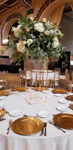 Amanda Bradford, Hotel Wedding Receptions, Tall Wedding Centerpieces, Flower Stands, Floral Design, Table Settings, Table Decorations, Flowers, Home Decor